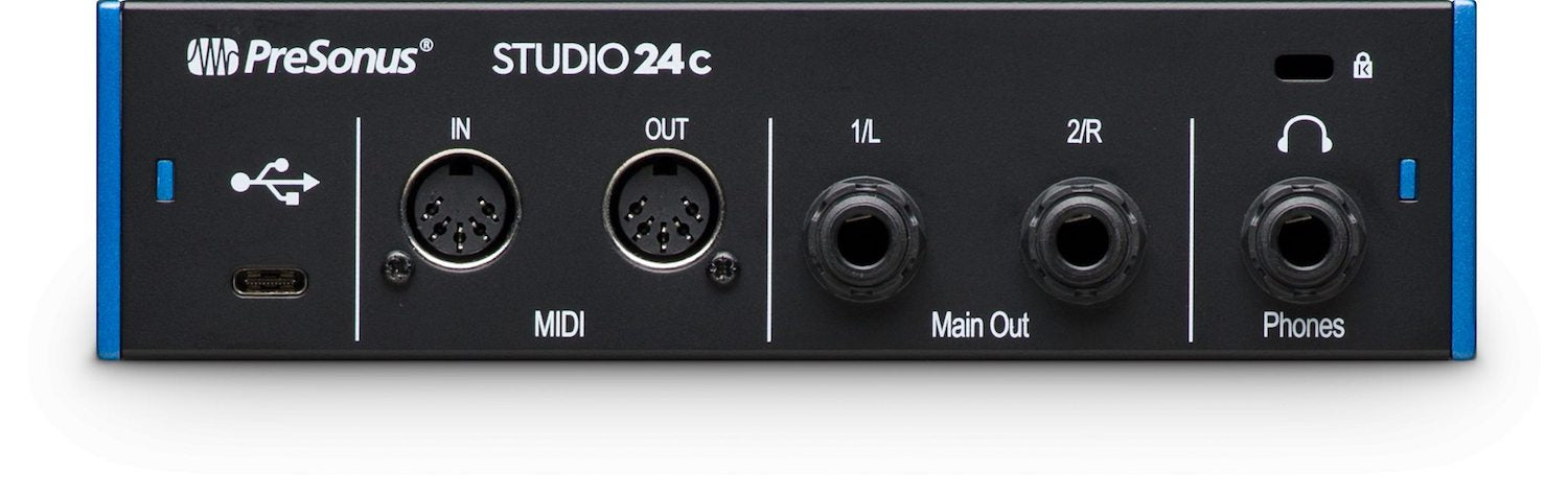 PreSonus Studio 24c USB-C Audio and Midi Interface