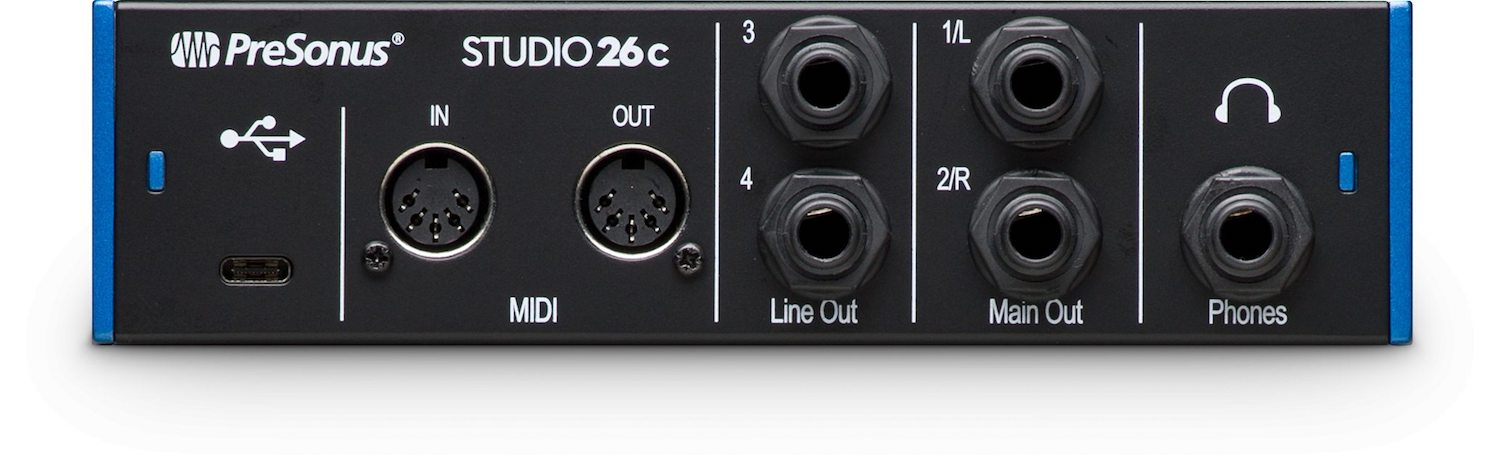Presonus Studio 26c USB-C Audio and Midi Interface