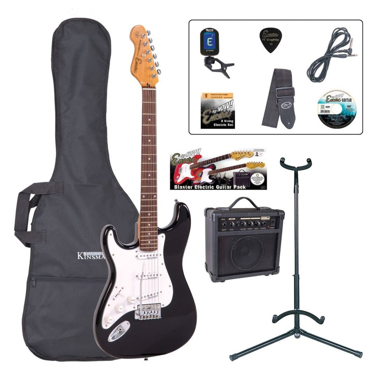 Encore E6 Electric Guitar Outfit (various colours)