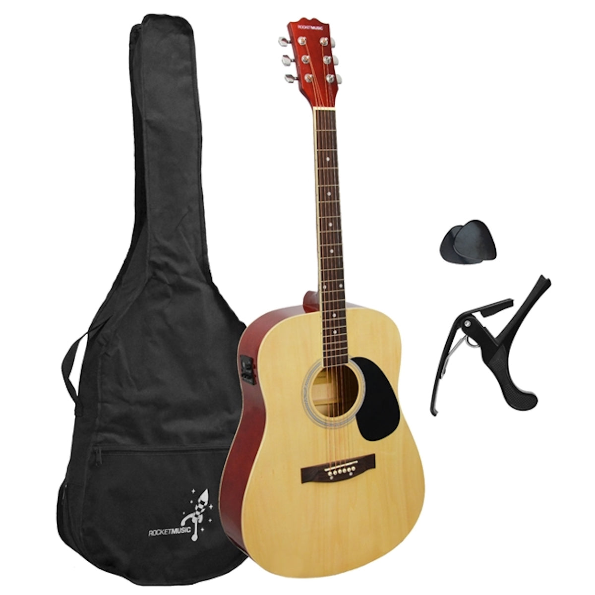 Rocket Dreadnought Electro-Acoustic Guitar Pack - Full size