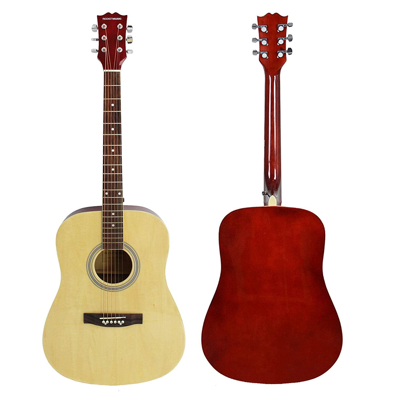 Rocket Dreadnought Acoustic Guitar Pack - Full size