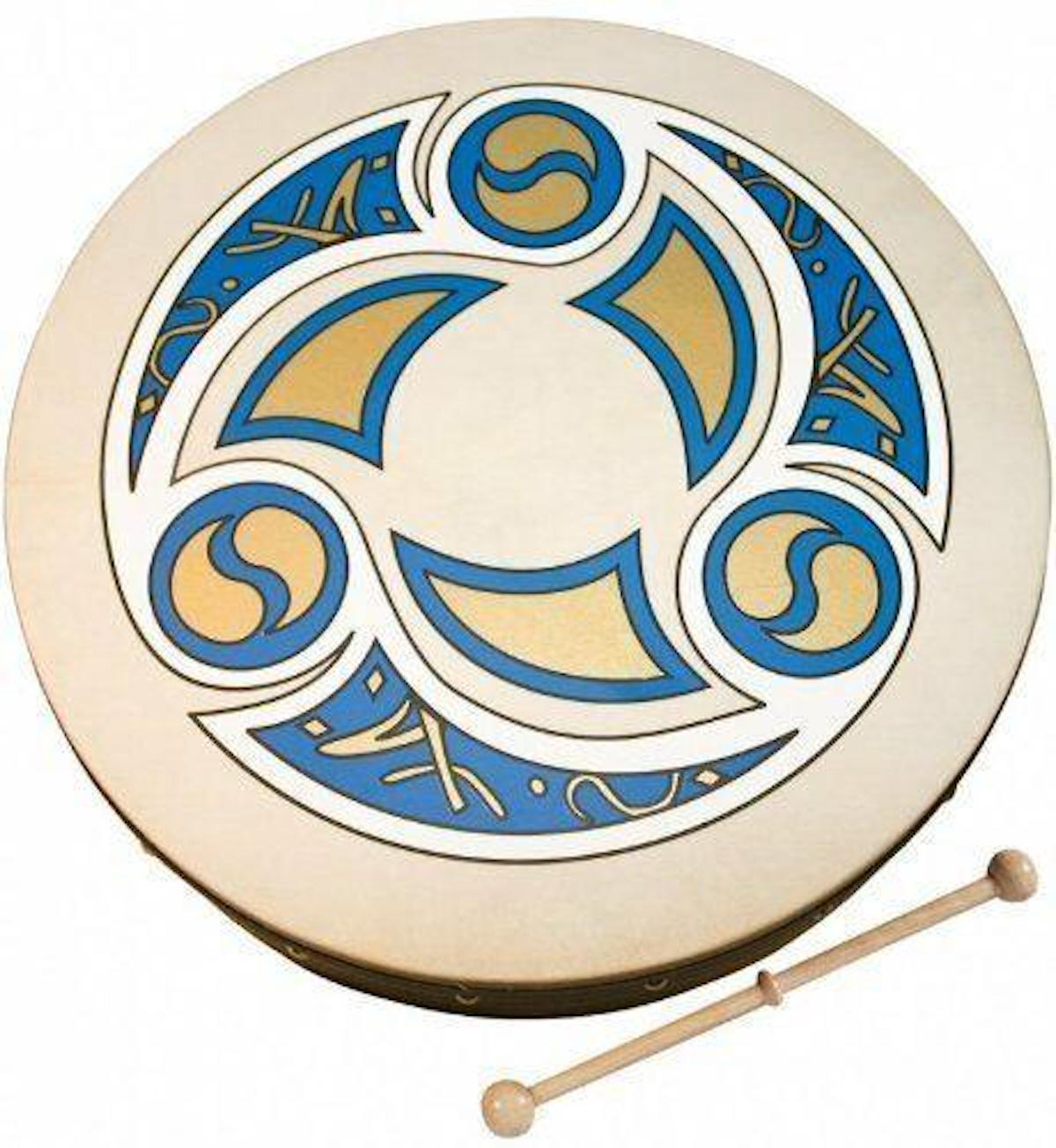 "Percussion Plus 18"" Bodhran with Trinity Celtic Design"