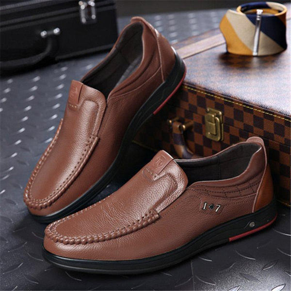 Plain Slip-On Low-Cut Upper Round Toe Thin Shoes