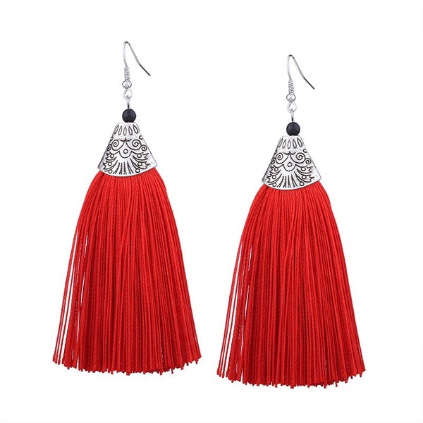 Alloy Tassel Gift Earrings