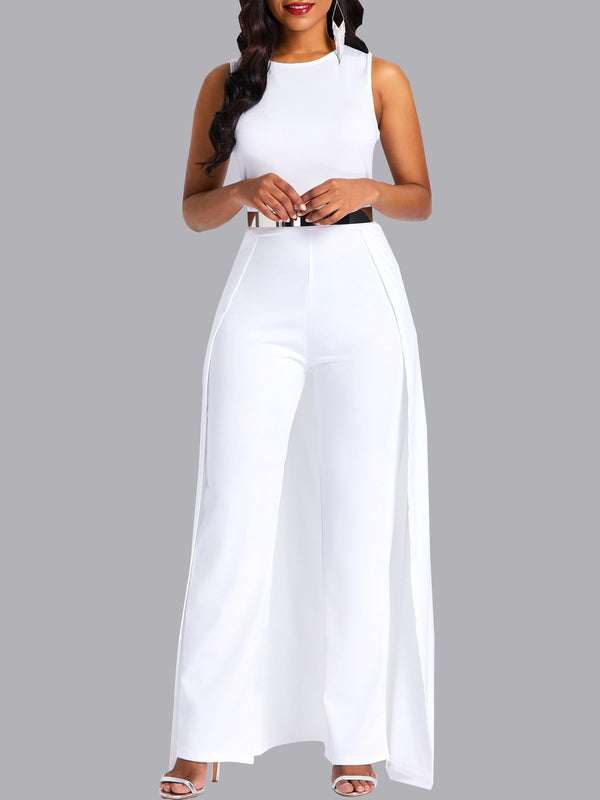 Full Length Western Patchwork High Waist Slim Jumpsuit