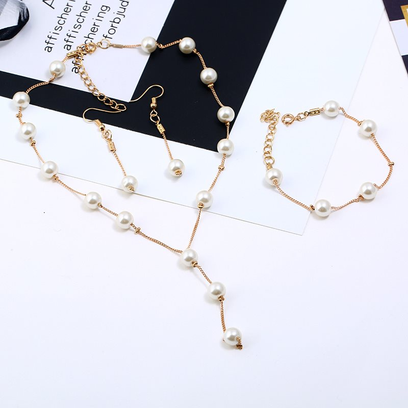 E-Plating Geometric Bracelet Prom Jewelry Sets