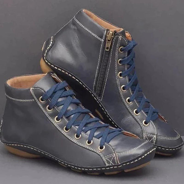 Round Toe Plain Side Zipper Casual Casual Boots