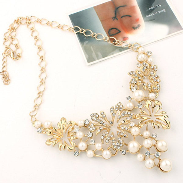 Pearl Inlaid Earrings Korean Gift Jewelry Sets