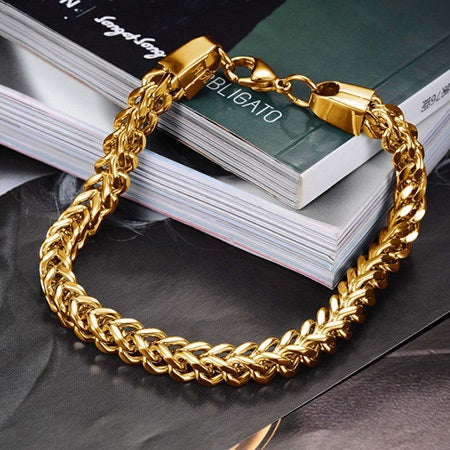 European Plain E-Plating Male Bracelets