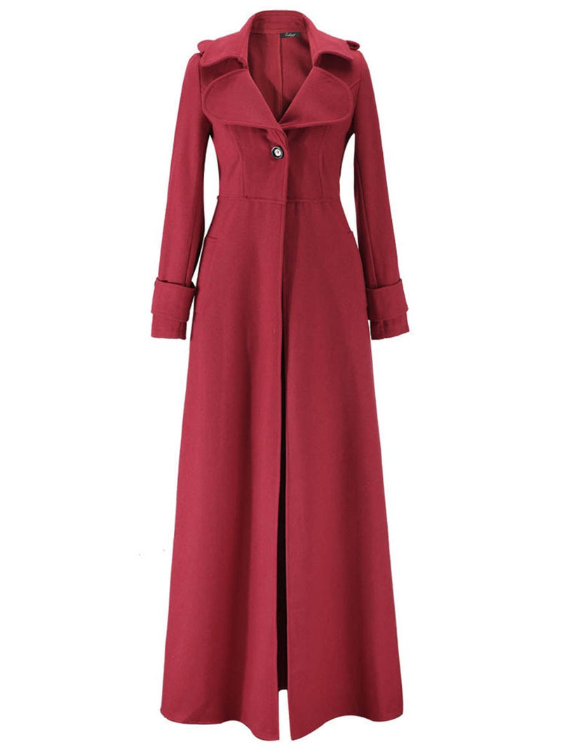 Long Spring Long Sleeve Trench Coat