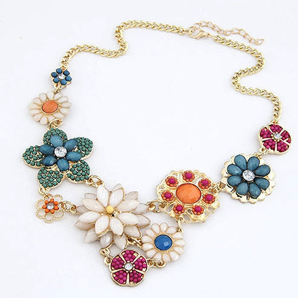 Bohemian Floral Chain Necklace Female Necklaces