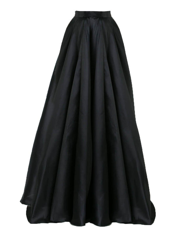Pleated Expansion Floor-Length High Waist Skirt