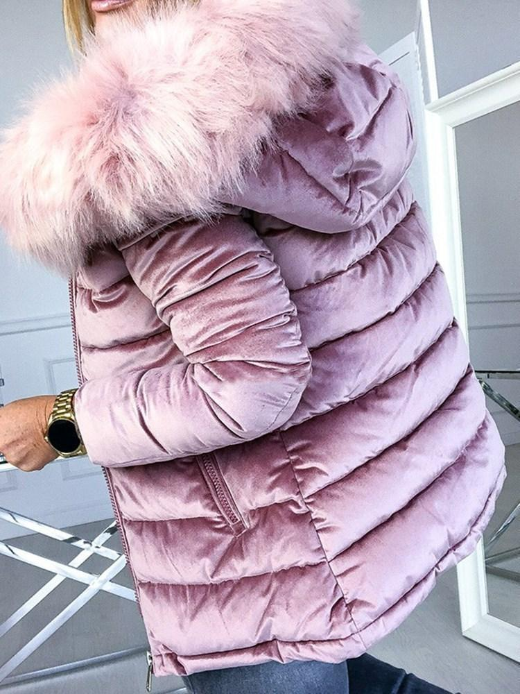 Loose Thick Zipper Standard Cotton Padded Jacket