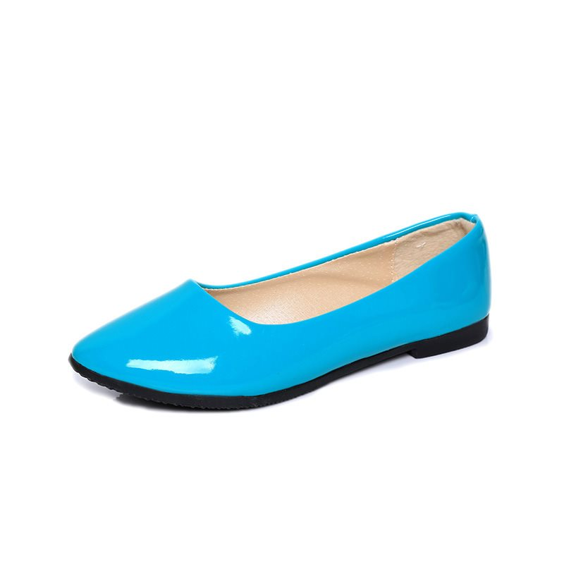 Round Toe Block Heel Slip-On Low-Cut Upper Plain Thin Shoes