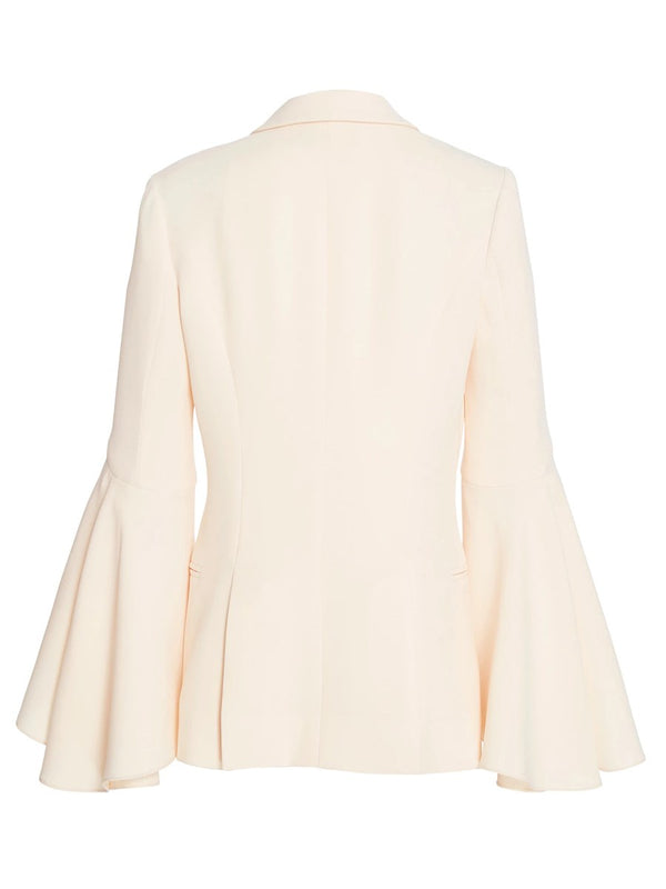 Plain Long Sleeve One Button Blazer