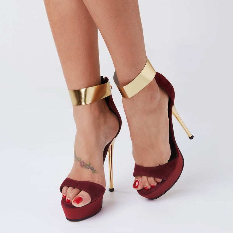 Open Toe Line-Style Buckle Plain Casual Sandals