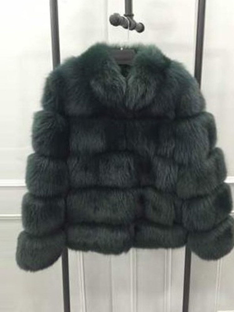 Standard Winter Straight Faux Fur Overcoat
