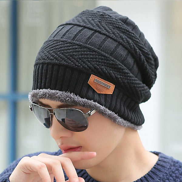 Hip Hop Acrylic Hemming Winter Hats