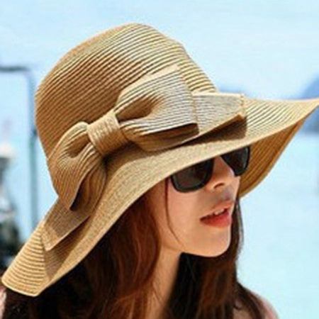 Print Fashion Straw Plaited Article Plain Hats