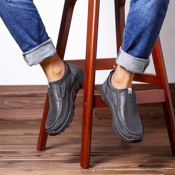 Low-Cut Upper Slip-On Patchwork Round Toe Thin Shoes