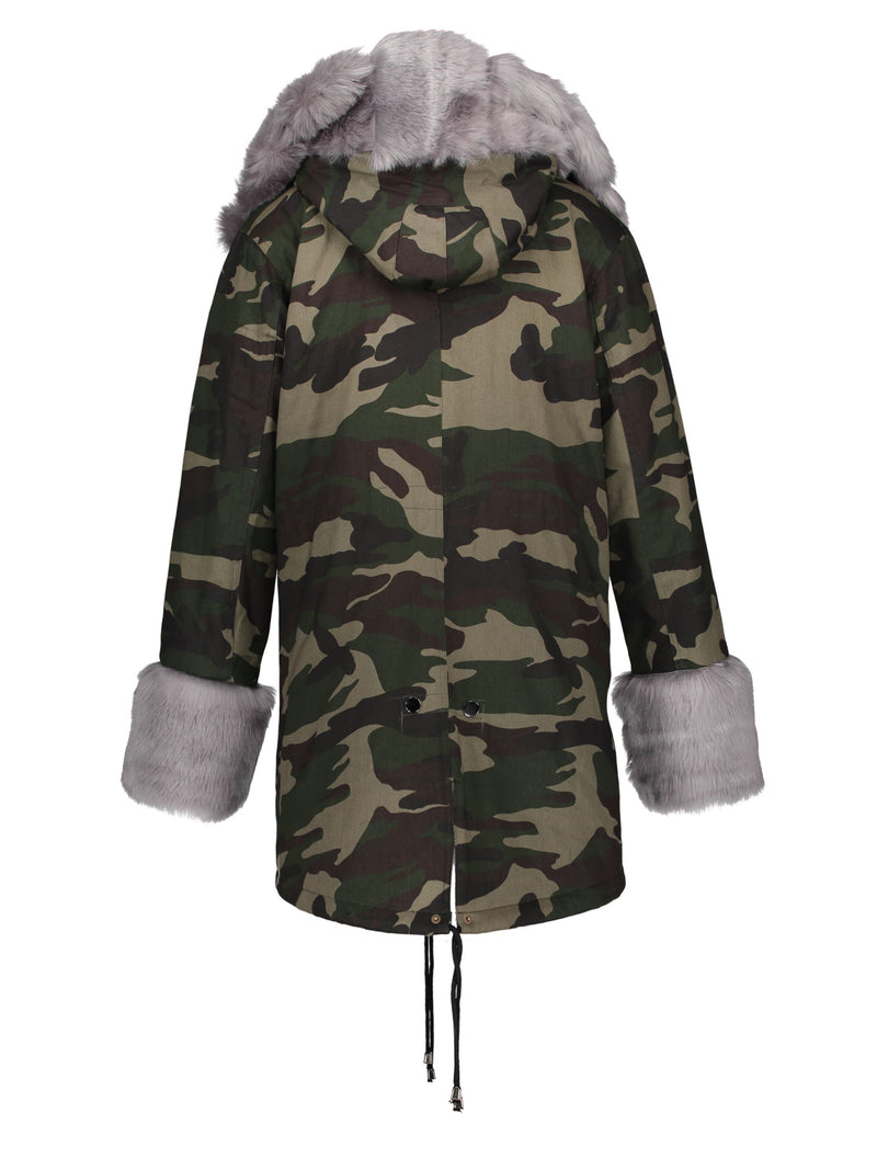 Straight Mid-Length Cotton Padded Jacket