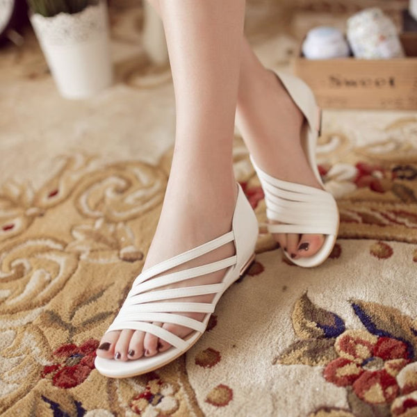 Wedge Heel Open Toe Heel Covering Slip-On Casual Thread Sandals