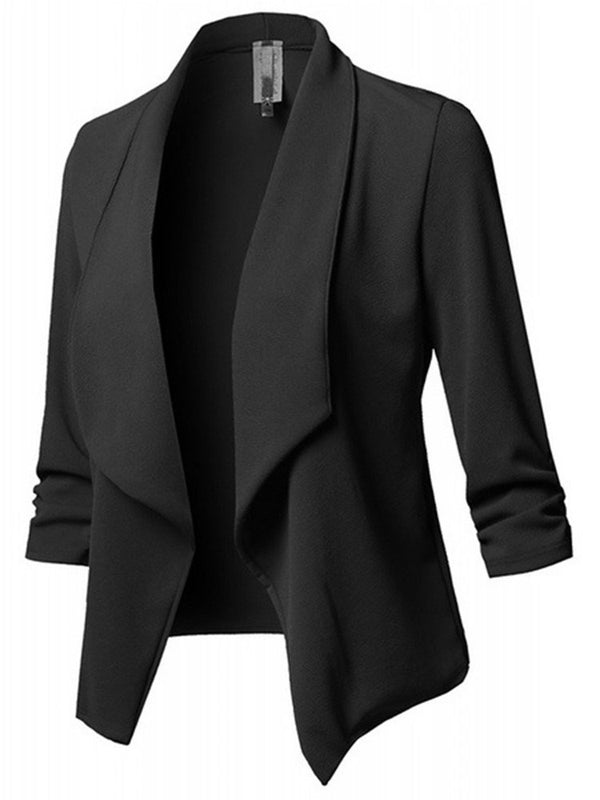 Plain Long Sleeve Spring Regular Casual Blazer