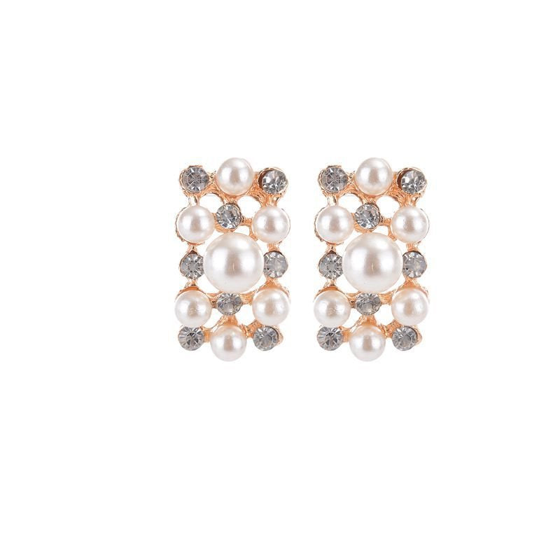 Geometric E-Plating Earrings Birthday Jewelry Sets
