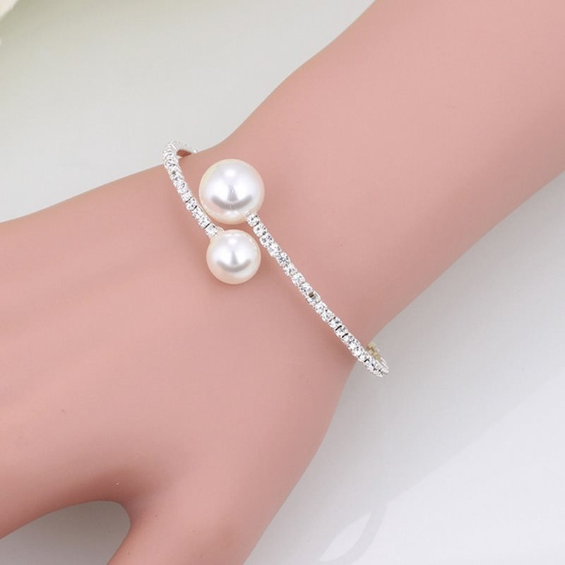 Romantic Bangle E-Plating Anniversary Jewelry Sets