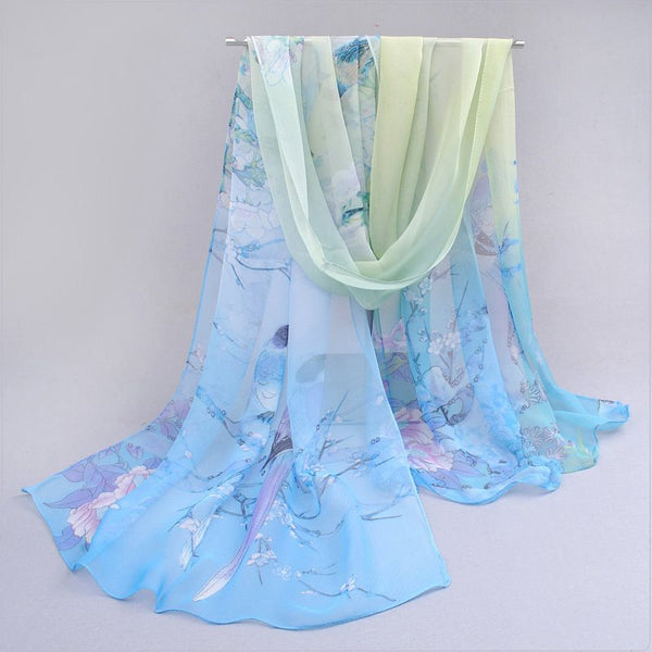 Print Chiffon Scarf Animal Scarves