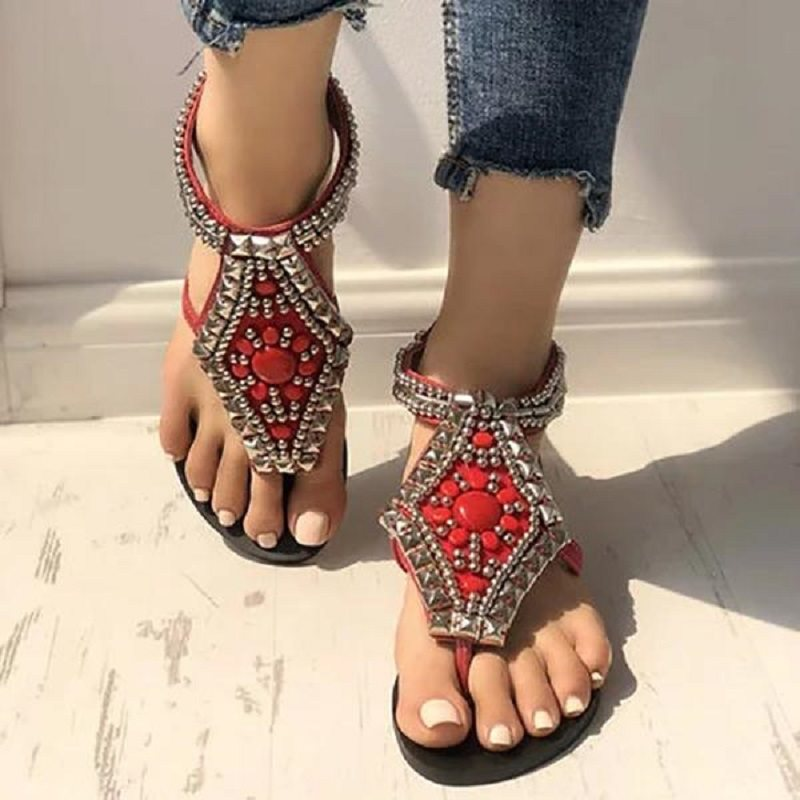 Slip-On Wedge Heel Round Toe Slingback Strap Western Casual Sandals
