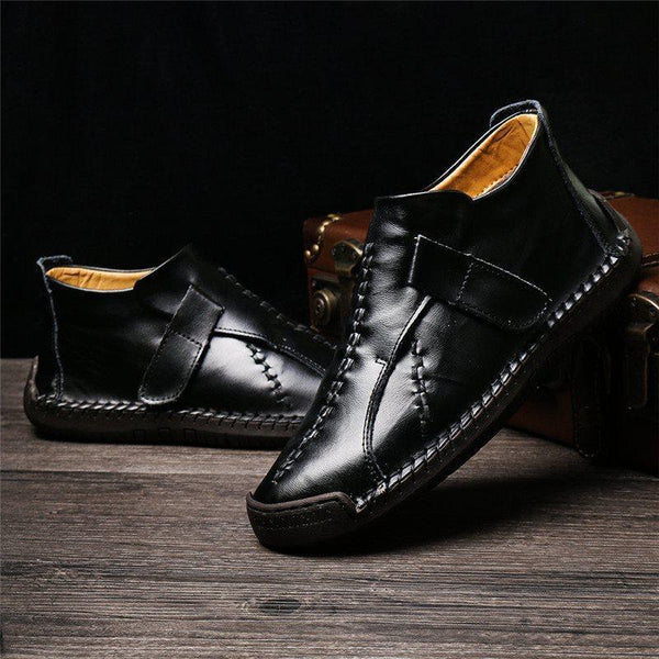 Velcro Low-Cut Upper Plain Round Toe Thin Shoes