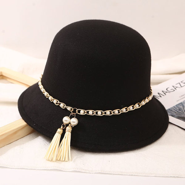 Sewing Thread Fedora Hat Fashion Plain Hats