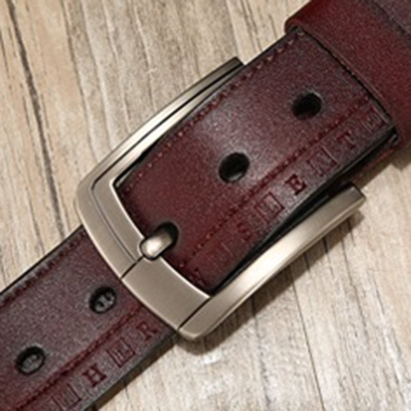 Casual Pin Buckle Thread Leather Belts