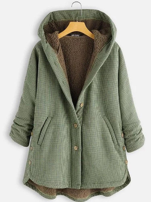 Regular Loose Single-Breasted Winter Hooded Overcoat