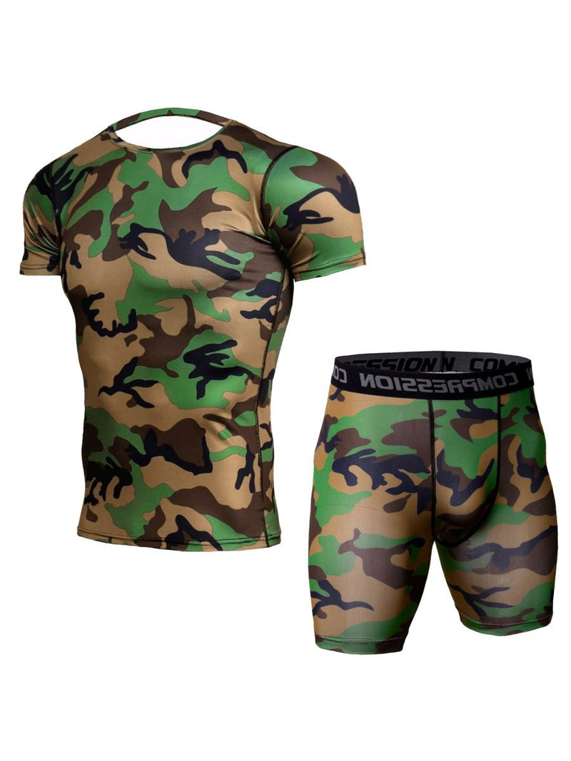 Print Quick Dry Shorts Short Sleeve Pullover Clothing Sets