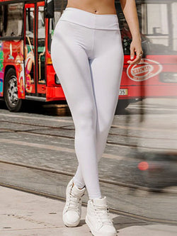 Solid Polyester Breathable Winter Female Full Length Pants