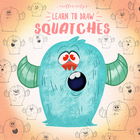 "Critterosity's ""Learn to Draw Squatches"" Book"
