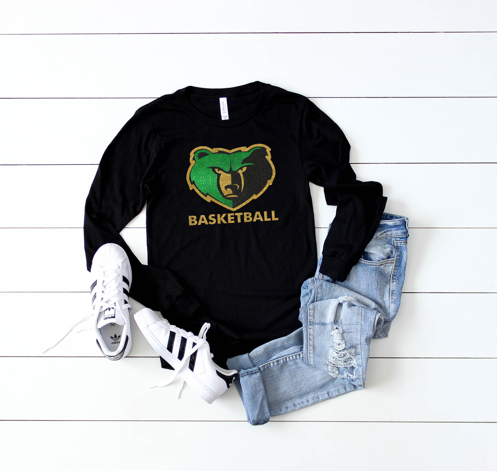 basha basketball long sleeve tee