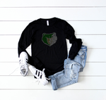 basha bear rhinestone long sleeve tee