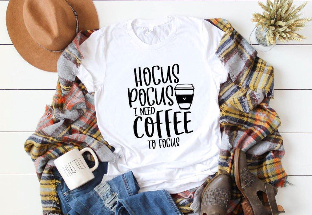 hocus pocus, i need coffee to focus tee