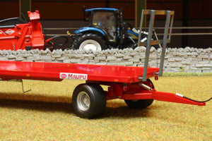 REP011 REPLICAGRI MAUPU TRAILER WITH 30 ROUND BALES
