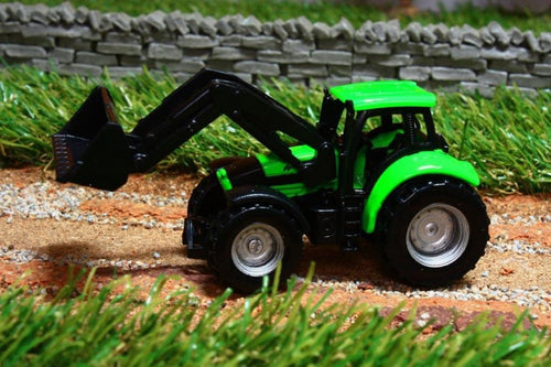 1043 SIKU 187 SCALE DEUTZ TRACTOR WITH LOADER