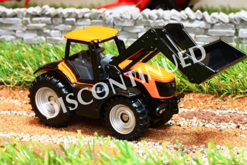 1356 SIKU 187 SCALE JCB FASTRAC WITH FRONT LOADER