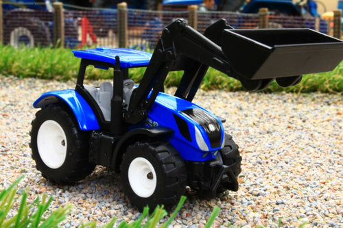 1396 SIKU 187 SCALE NEW HOLLAND TRACTOR WITH FRONT LOADER