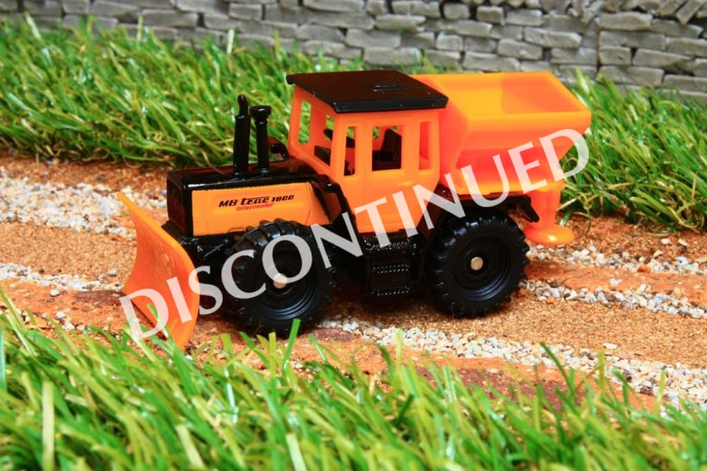 1478 Siku 187 Scale Mb Trac With Snow Plough And Salt Spreader - Discontinued Tractors And Machinery