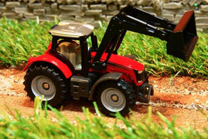 1484 SIKU 187 SCALE MASSEY FERGUSON TRACTOR WITH LOADER