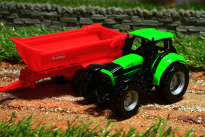 1632 - 187 SCALE SIKU DEUTZ AGROTRON TRACTOR WITH KRAMPE TIPPING TRAILER