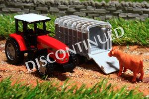 1640 SIKU 187 SCALE MASSEY FERGUSON 9240 TRACTOR WITH STOCK TRAILER