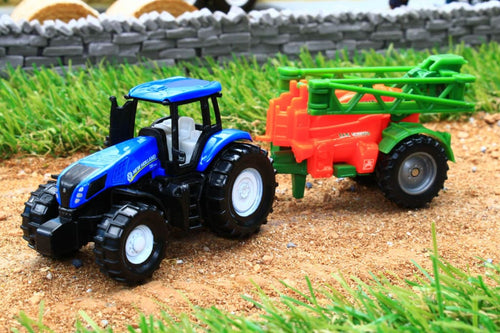 1668 SIKU 187 SCALE NEW HOLLAND TRACTOR WITH CROP SPRAYER